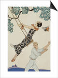 The Swing Prints by George Barbier