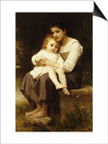 The Eldest Sister, 1886 Prints by William Adolphe Bouguereau