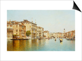 The Grand Canal with the Rialto Bridge, Venice Posters by Rafael Senet
