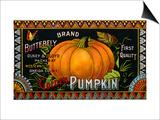 Butterfly Brand Golden Pumpkin Product Label Art