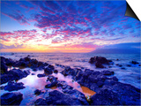 Sunset over beach at Wailea on Maui Posters by Ron Dahlquist
