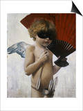 Cupid at the Masquerade Ball Poster by Franz von Stuck