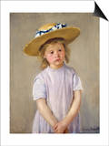 Child in a Straw Hat Poster by Mary Cassatt
