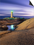 Peggy's Cove Lighthouse, Nova Scotia, Canada. Art by Darwin Wiggett