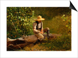 The Whittling Boy Prints by Winslow Homer