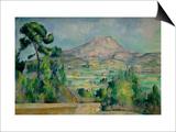 Montagne Sainte-Victoire Print by Paul Cézanne