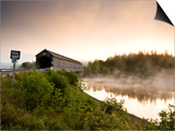 Covered Bridge on Kingston Penninsula, New Brunswick, Canada. Prints by Henry Georgi