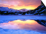Icy Lake in Mountains Prints by Christopher Talbot Frank