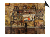 House Wall on the River Prints by Egon Schiele