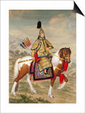 The Qianlong Emperor in Ceremonial Armour on Horseback Art by Giuseppe Castiglione