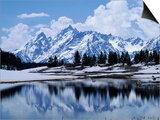 Grand Teton Reflected in Lake Poster von Chris Rogers