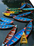 Canoes floating on water Prints by Sung-Il Kim