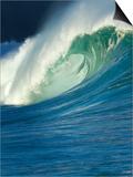 Wave, Waimea, North Shore, Hawaii Poster by Douglas Peebles