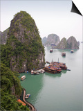 Boats in Halong Bay in Vietnam Posters by José Fuste Raga
