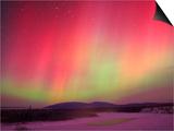 Aurora Borealis or Northern Lights, Yukon. Posters by Robert Postma