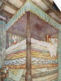 The Princess and the Pea Prints by Edmund Dulac