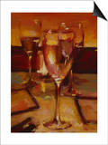Wine Glasses, Paris Poster by Pam Ingalls