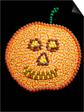 A Jack o'Lantern Made From Candy Poster by William Brady