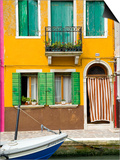 Colorful House on Burano Island Art