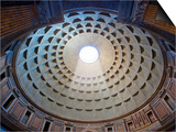 Interior of the dome on the Pantheon in Rome Posters by Sylvain Sonnet