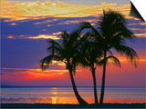 Colorful Sunset over Sombrero Beach in the Florida Keys Posters by George Mccarthy