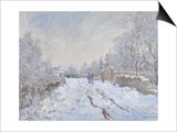 Snow Scene at Argenteuil Posters by Claude Monet