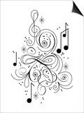 Music flourish Poster by Kirsten Ulve