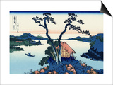 Lake Suwa in the Shinano Province Kunstdrucke von Katsushika Hokusai