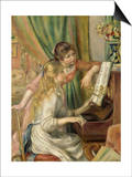 Young Girls at the Piano Prints by Pierre-Auguste Renoir
