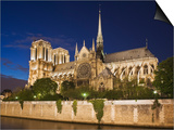 Notre Dame Cathedral at twilight Posters by Peet Simard
