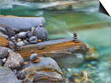 Frank Krahmer - Small stone cairn on striated boulder in the Verzasca River - Tablo