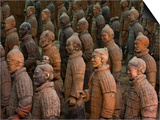 Terracotta Warrior Statues in Qin Shi Huangdi Tomb Posters by Danny Lehman