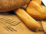 Bread and Wheat, Winnipeg, Manitoba, Canada Print by Mike Grandmaison