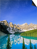 Moraine Lake, Banff National Park, Alberta, Canada Poster by John E Marriott