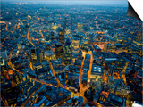 Aerial View of City of London Prints by Jason Hawkes