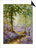 The Bluebell Wood Prints by Alfred Fontville de Breanski