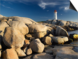 Peggy's Cove Lighthouse Nova Scotia, Canada. Art by Darwin Wiggett