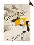Confeti Pósters por Henri de Toulouse-Lautrec