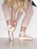Ballerina adjusting toe shoe Prints by  November