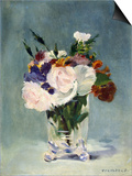 Flowers in a Crystal Vase Prints by Édouard Manet