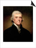 Thomas Jefferson Art by Rembrandt Peale