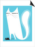 Cat catching mouse Posters by Kirsten Ulve
