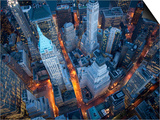 Cameron Davidson - Letecký pohled na Wall Street Obrazy