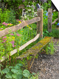 Flower Garden with Old Wood Fence Poster par Mark Bolton