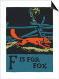F is for fox Art