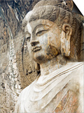 Colossal Buddha Sculpture at Fengxian Temple of Longmen Grottoes Art by Xiaoyang Liu