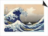 Die große Welle von Kanagawa Poster von Katsushika Hokusai