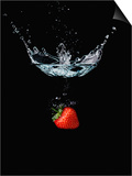 Strawberry in Water Art by John Smith