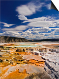 Colorful Terraces atop Mammoth Hot Springs Prints by Adam Jones