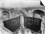 Construction of Panama Canal Locks Prints